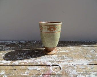 Pottery Cup Fish Pottery Mid Century Pottery Vase