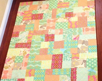 Sale Hand Made Baby Quilt Using Moda Fabric By