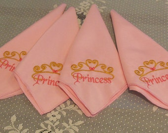 Embroidered Princess Napkins