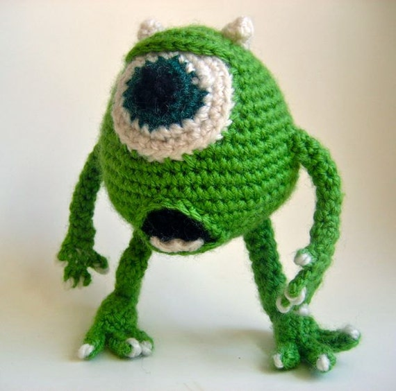 Amigurumi Monsters Inc : Amigurumi Mike Wazowski Pattern