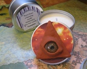 The Oculus Soy Candle  ~ All Seeing Eye ~Third Eye  ~ Fortune Teller ~ Halloween Candle ~ Massage candle - Kosher - Vegan - Holistic