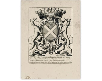 Figural Crest of Nobility 3, Peerage Insignia Emblems - Digital File 18x24, Similar to Restoration Hardware, 8 available