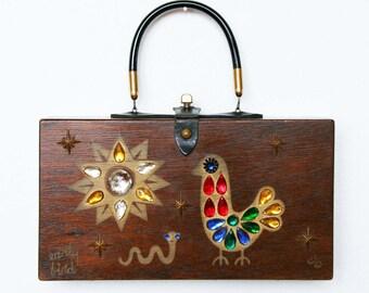 "Enid Collins of Texas 1962 ""Early Bird"" Box Bag"