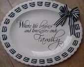 Monogrammed Ribbon Platter~ Personalized Ribbon Platter~ Monogrammed Wedding Platter~ Personalized Wedding Platter~ Monogrammed Wedding Gift