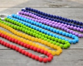 plain jane silicone teething necklace with breakaway clasp