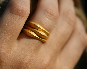 STACK RINGS - Gold 3D printed stackable rings