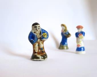 French Figurine Porcelain - Fève en Porcelaine pour la Galette des Rois Peasant