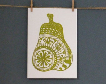 HALF PRICE Greeting Card taken from 'Doodle Pear 1' paper cut by Loula Belle At Home
