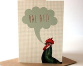 Welsh Dal Ati Keep Going Eco Friendly Art Greeting Card