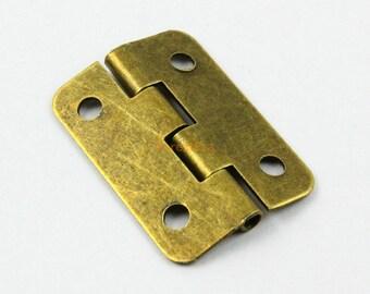 20Pcs Antique Brass Hinge Small Hinge Box Hinge 30x21mm (HINGE07)