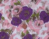 Beautiful Vintage Cotton Fabric 2 yards Flowers
