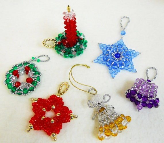 Patterns only beaded christmas ornaments classic holiday