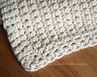 "Chunky Afghan Sofa Throw Easy Beginner Crochet PATTERN 48"" x 60""/(122 x 152) cm - PDF 4860"