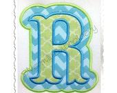 Double Applique Carnival Style Machine Embroidery Font Alphabet -  4 Sizes