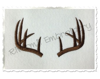 Deer Antlers Machine Embroidery Design - 4 Sizes
