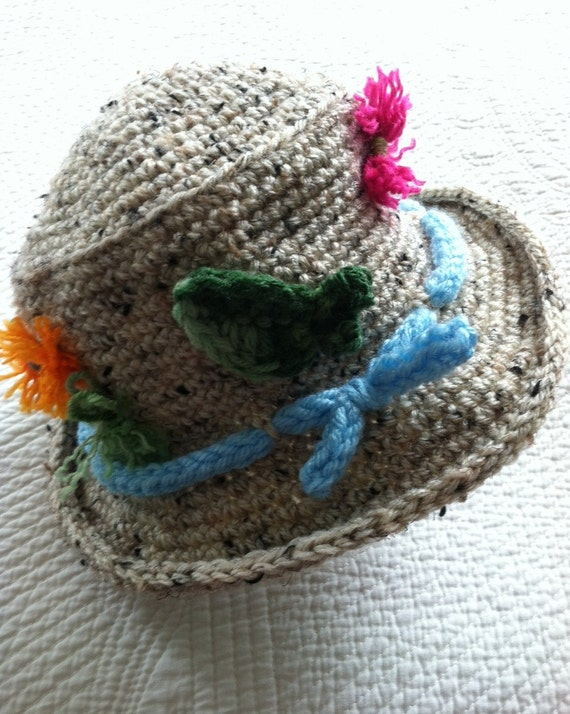 Crochet Baby Hat, Child Hat, Child Fishing Hat, Baby Fishing Hat, Little Boy Hat, Newborn Hat, Fishing, Little Girl Hat
