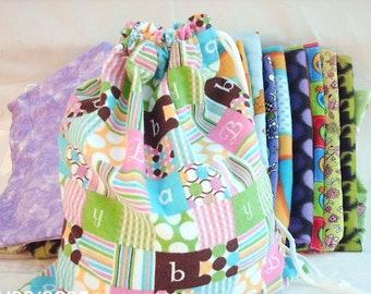 Baby Bag, Bags for Kids, Flannel Bag, Drawstring Diaper Bag, Soft and Eco Friendly