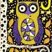 Kerri Ambrosino Mexican Folk Art PRINT Autumn Witch Owl Harvest Moon Halloween Fall Stars