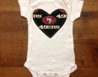 San Francisco 49ers Girls Bodysuit or Toddler Shirt