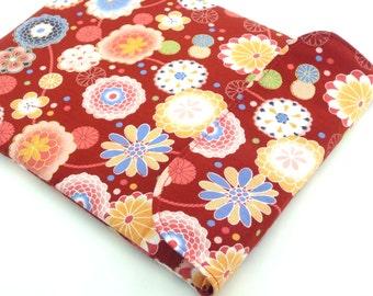 Kobo Arc Cover, Google Nexus 10 Sleeves, Kindle Fire HD 8.9 Case Kimono Cotton Chrysanthemum Red