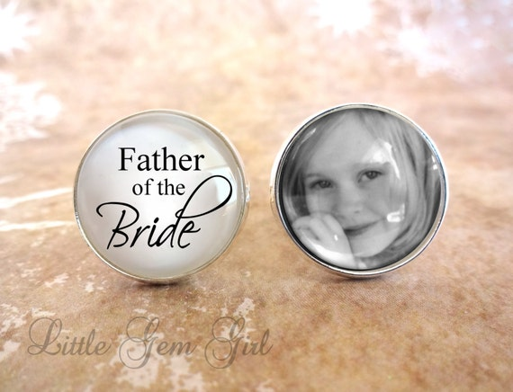 Wedding Gifts For Dad From Bride : Custom Father of the Bride Photo Cuff Links - Gifts for Dad Wedding ...