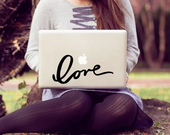 love large laptop decal