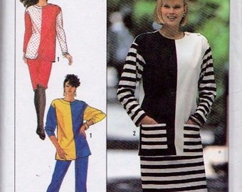 Simplicity 9452, Size All, Misses' Knit Pull-On Pants and Skirt and Pullover Top Pattern, UNCUT, Petite, Small, Medium, Large, X-Large