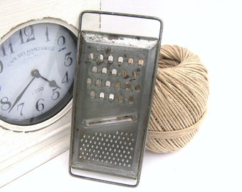 French Grater, Farmhouse Grater for Cheese, La Menagere (The Housewife), Vintage Grater, Stainless Steel Grater