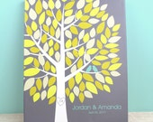 Wedding Guest Book Canvas - Wishwik Multi Tree - Peachwik Interactive Art Wedding Canvas - 100 guest sign in -Wedding Gallery Wrapped Canvas