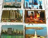 6 Vintage New York Postcards Collage Supplies Ephemera ON SALE