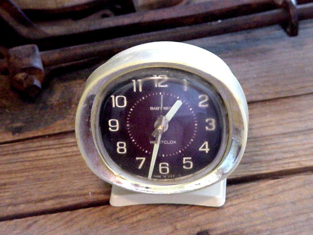 Vintage Alarm Clock Baby Ben Westclox Wind Up Alarm Clock