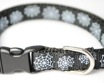 """Spiderwebs - 3/8"""" Adjustable Cat Collar"""