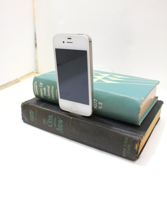 Iphone 4 Charging Dock Station From Vintage Book With Hidden