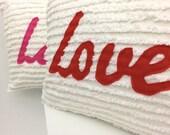 Chenille Love Pillow