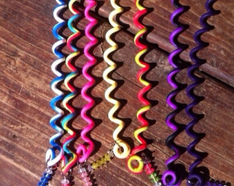 Set of four Twistyz hair wraps in your choice of solid or multi color combinations Free Shipping to anywhere in the U.S.