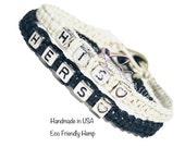 Boyfriend Gift, Personalized Couples Bracelets, His Hers Bracelets, Anniversary Gift, Black White Bracelets, Gift Idea, Valentines Gift