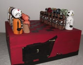 Ideal for Christmas Hand made unique star wars peg people chess set. Boxed and varnished.