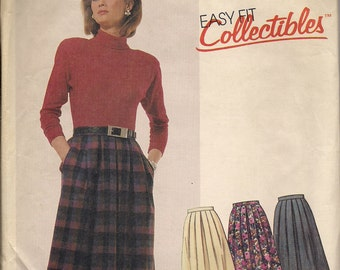 1986 Sewing Pattern McCall's 2668 misses skirt size 14 waist 29.5