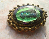 Vintage Holographic Cameo Brooch Vintage Retro Fashion Party Jewelry
