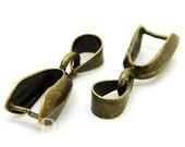 Bronze Tone Pinch Bails Clasp Findings 21x10mm - 20Pcs - FA25149