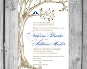 Lush Love Bird and Love Tree Invitation Set.