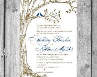 Lush Love Bird and Love Tree Invitation Set.