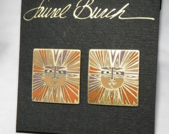 Laurel Burch SUN GODDESS Earrings - Rare - New Old Stock - Vintage