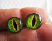 Dragon eyes for jewelry or sculpture 14mm glass cabochons