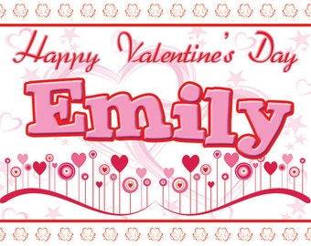 Valentine's Personalized Placemats