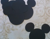 12 Mickey Mouse Head Shapes Die Cut pieces for crafts DIY Kids Crafts Birthday Party Banners Tags etc.