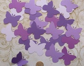50 Butterfly Pcs Asst Purple Cardstock 4 Weddings Crafts Baby Mobiles Cupcake Picks Toppers Wall Hang Photo Shoot Prop DIY Baby