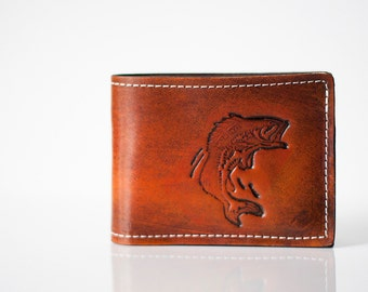 Leather Wallet / Bass Fish