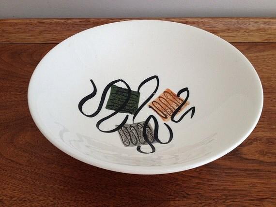 Blue Ridge Dinnerware Serving Bowl Squares Pattern 4269
