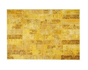 Patchwork rug Yellow 132
